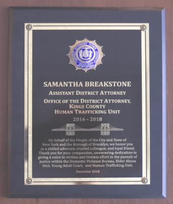 Assistant District Attorney Human Trafficking Unit badge