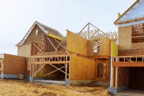 Construction of a new house.