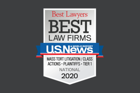 U.S. News and World Report Best Law Firm Award 2020