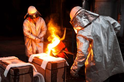 Foundry Worker at work