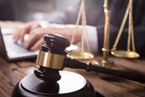 Close-up Of Gavel And Justice Scale
