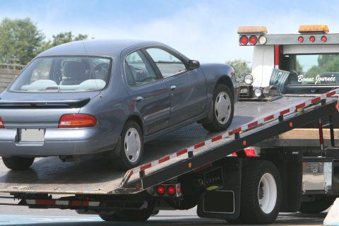 Car on Tow Truck