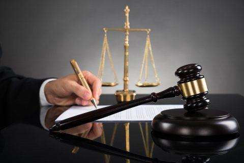 Judge, gavel and scales of justice