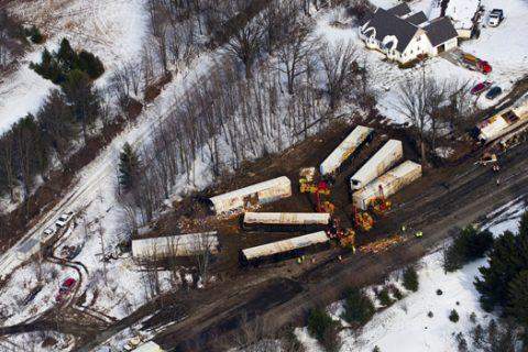 TRAIN DERAILMENT AND DEVASTATION